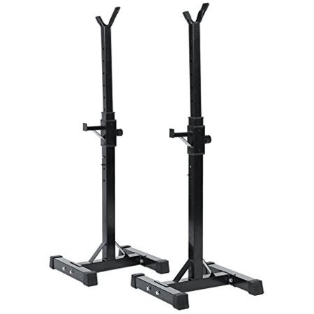 Set of 2 adjustable squat stand heavy duty standard solid for Squat rack set