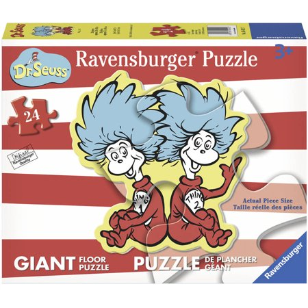 Ravensburger Dr. Seuss Thing 1 & 2 Giant Shaped Floor Puzzle: 24 Pcs