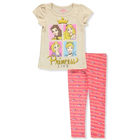 Disney Princess Girls' 2-Piece Capri Leggings Set - Princess Jasmine Leggings