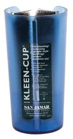 4 Diameter x 7-3//4 Height San Jamar KLC28C Kleen Spindle Mixer Sanitizing Cup