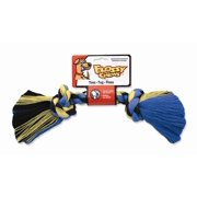 Mammoth Flossy Chews 20000V Cotton 2-Knot Rope Bone Dog Toy, Assorted Color, Mini (6 Inch)
