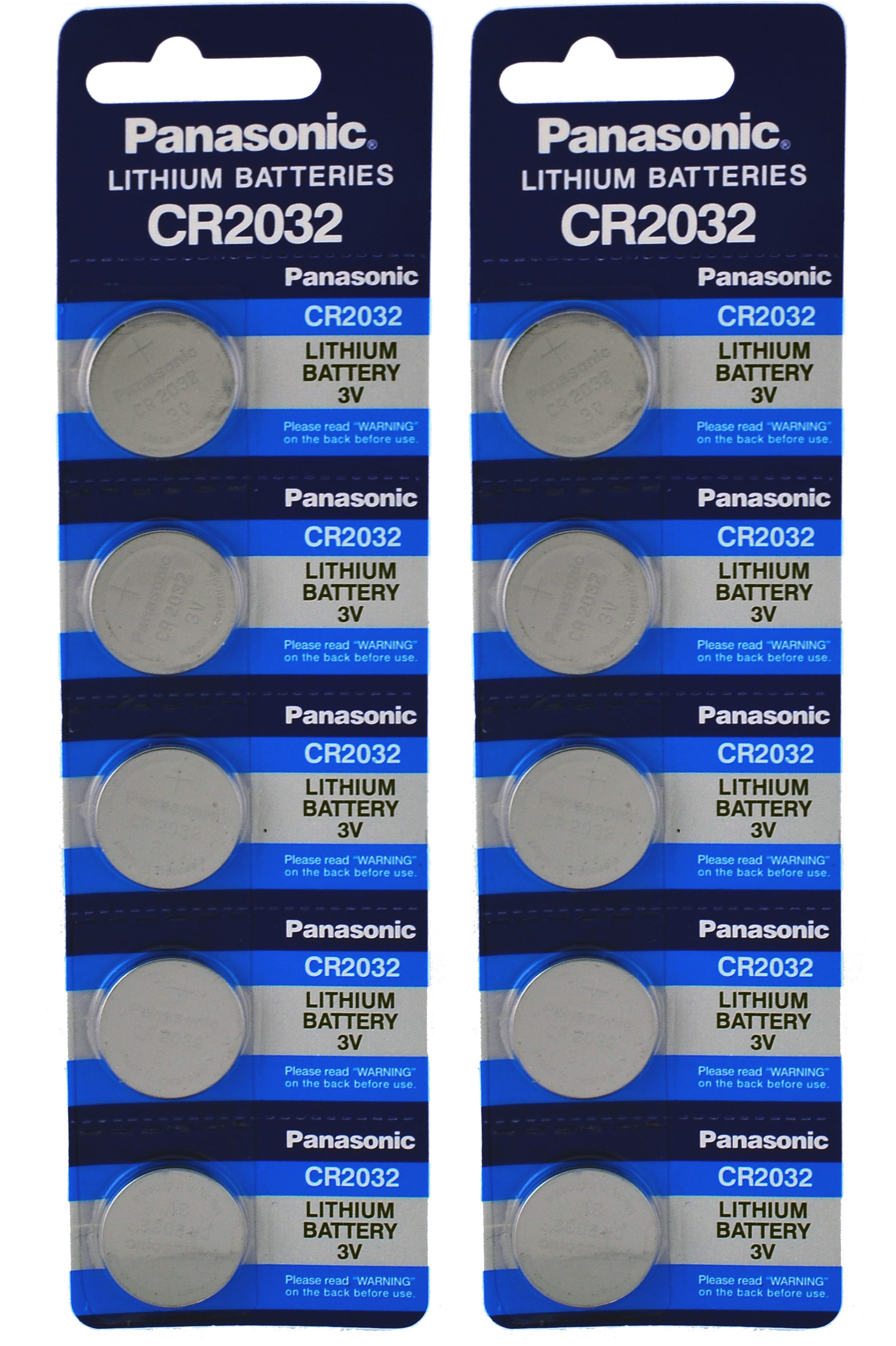 panasonic cr 2032 3v  10 Panasonic CR2032 2032 3V Lithium Coin Cell Batteries (10 ...