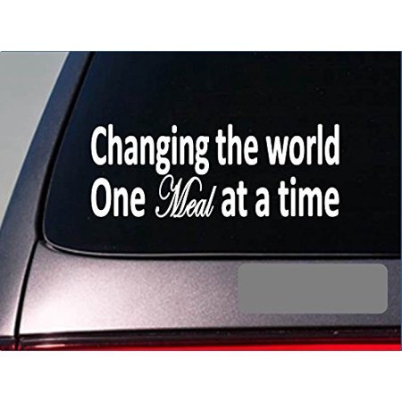 Changing the world meal sticker chef cook diner restaurant decal *E218*