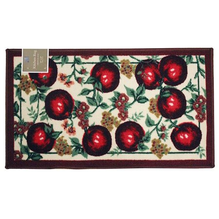 Kashi Home Rectangle Mat with Latex Back Red Apple Series Kitchen Rug, 18