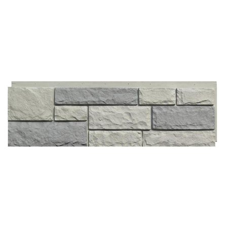 NextStone™ Faux Polyurethane Stone Panel - Random Rock Tri Gray Faux Accent Stones
