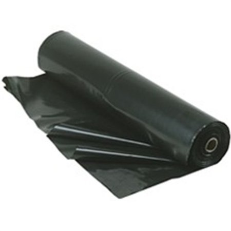 trm manufacturing 420b weatherall 4 mil poly plastic sheeting visqueen, 20' wide 100' long, 1 roll in a box, black 100' High Gloss 1 Roll