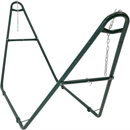 Sunnydaze Universal Multi-Use Heavy-Duty Steel Hammock Stand, 2 Person, Fits Hammocks 9 to 14 Feet Long, 550-Pound Capacity, Multiple Colors Available ()