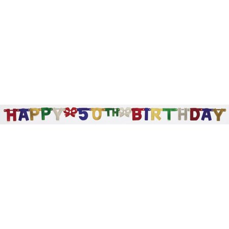 Creative Converting 50th Birthday Party Banner