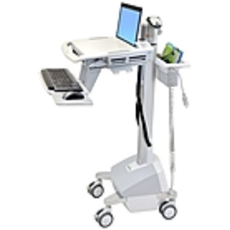 Refurbished Ergotron StyleView EMR Laptop Cart, LiFe Powered - 20 lb Capacity - 4 Casters - Aluminum, Plastic, Zinc Plated Steel - 18.3
