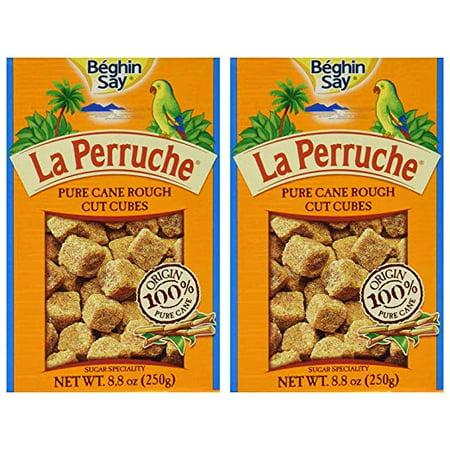 (2 Pack) La Perruche Rough Cut Brown Sugar Cubes - 8.8 oz