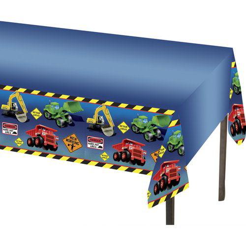 Construction Trucks Plastic Table Cover (1ct)