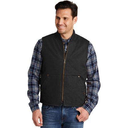 Cornerstone Men's Washed Duck Cloth Vest, Black, XX-Large