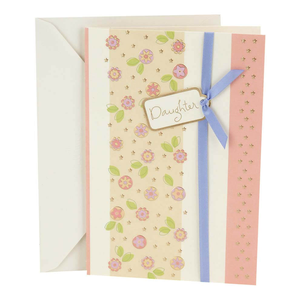 Hallmark Floral Pattern Birthday Greeting Card To Daughter