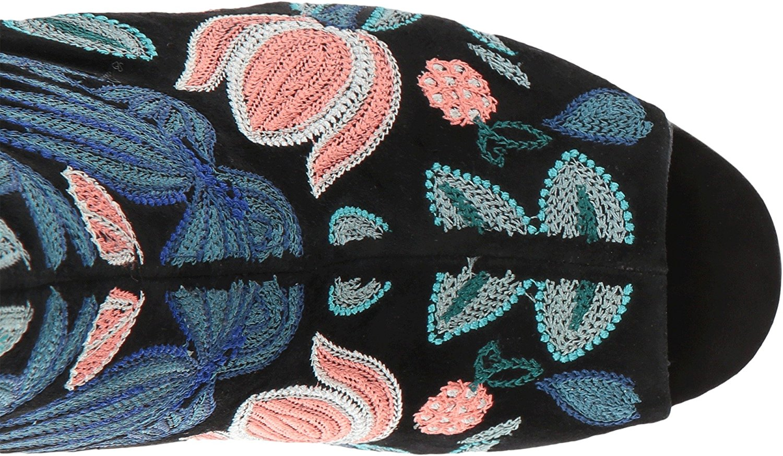 df446c6c780 Rebecca Minkoff Womens Billie Fabric Peep Toe Mid-Calf