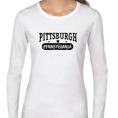 Trendy Pittsburgh  Pennsylvania With Stars Womens Long Sleeve T Shirt