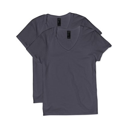 Hanes Women's Lightweight Nano-T Short Sleeve V-neck Tee (Nano Fashion)