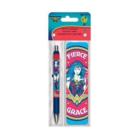 Wonder Woman Movie Gel Pen + Bookmark Pack