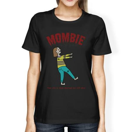Sleep Deprived Funny New Moms Shirt Womens Halloween Black T-Shirt - Mom Halloween