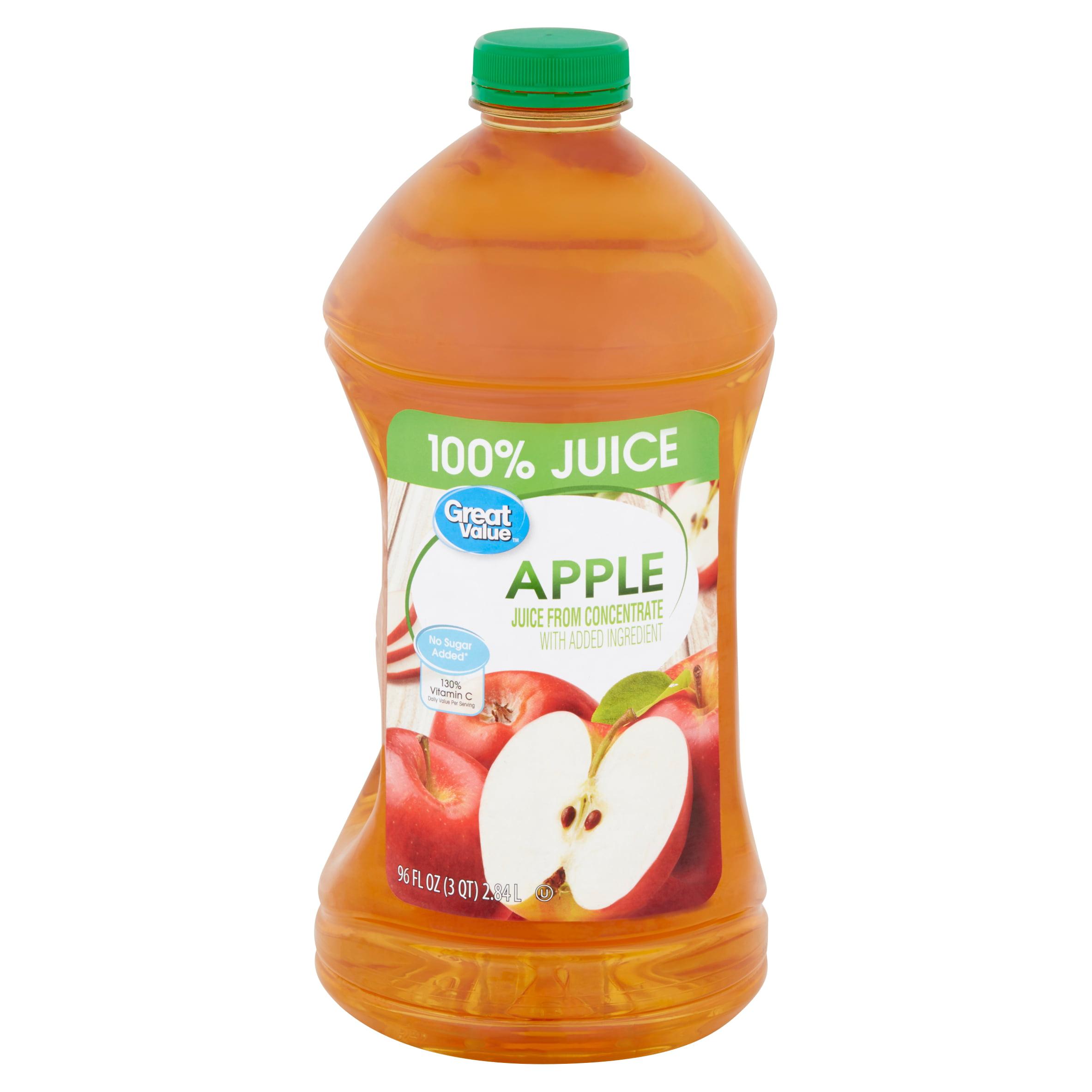 Great Value 100% Apple Juice, 96 Fl. Oz.