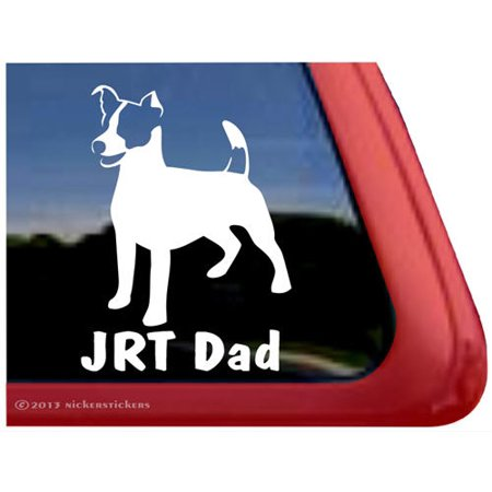 JRT Dad | High Quality Vinyl Jack Russell Terrier Dog Window - Rydell High