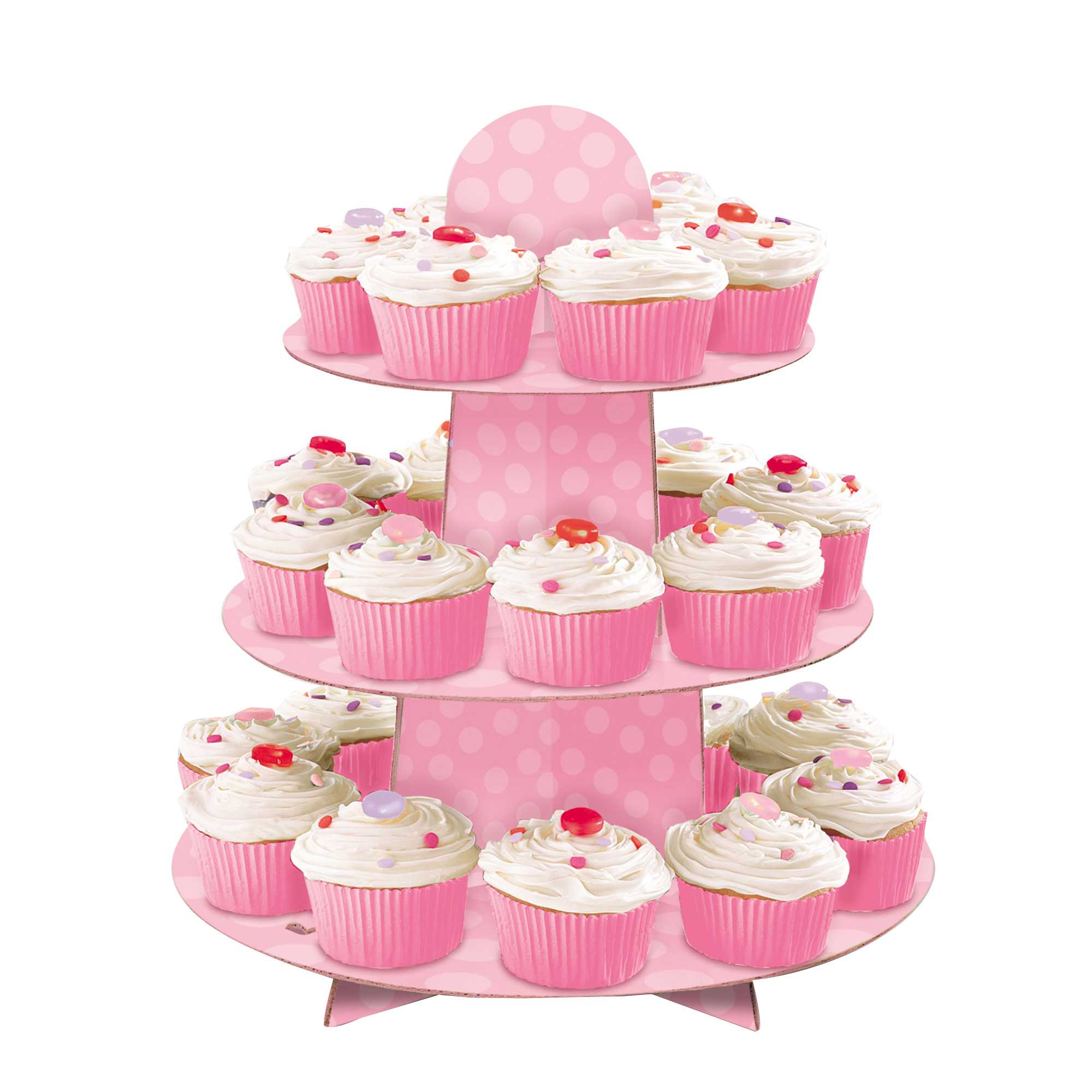 Pink Cardboard Cupcake Stand, 1.1ft x 11.75in