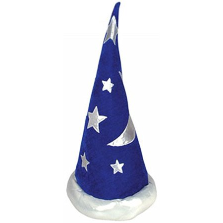 Cp Adult or Child Blue and Silver Wizard Hat or Merlin Hat One Size Fits Most](Paper Wizard Hat)