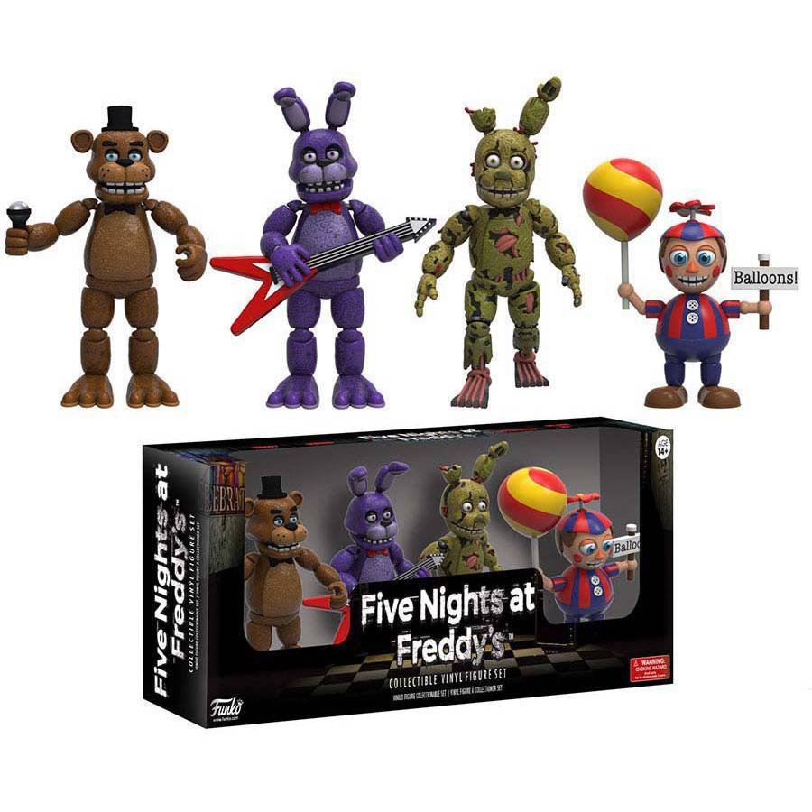 "Funko 2"" Figure 4-Pack Five Nights At Freddys, Pack 2"