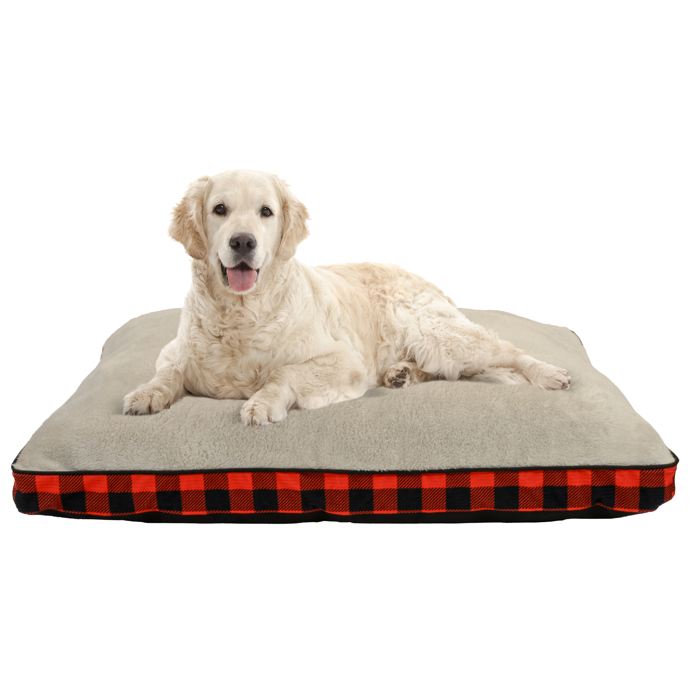 """Holiday Time 32"""" x 42"""" XLG Deluxe Gusseted Pet Bed - Red"""