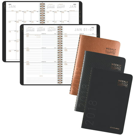 2018 AT-A-GLANCE Contemporary Weekly/Monthly Planner, 12 Months, January Start, 4 7/8