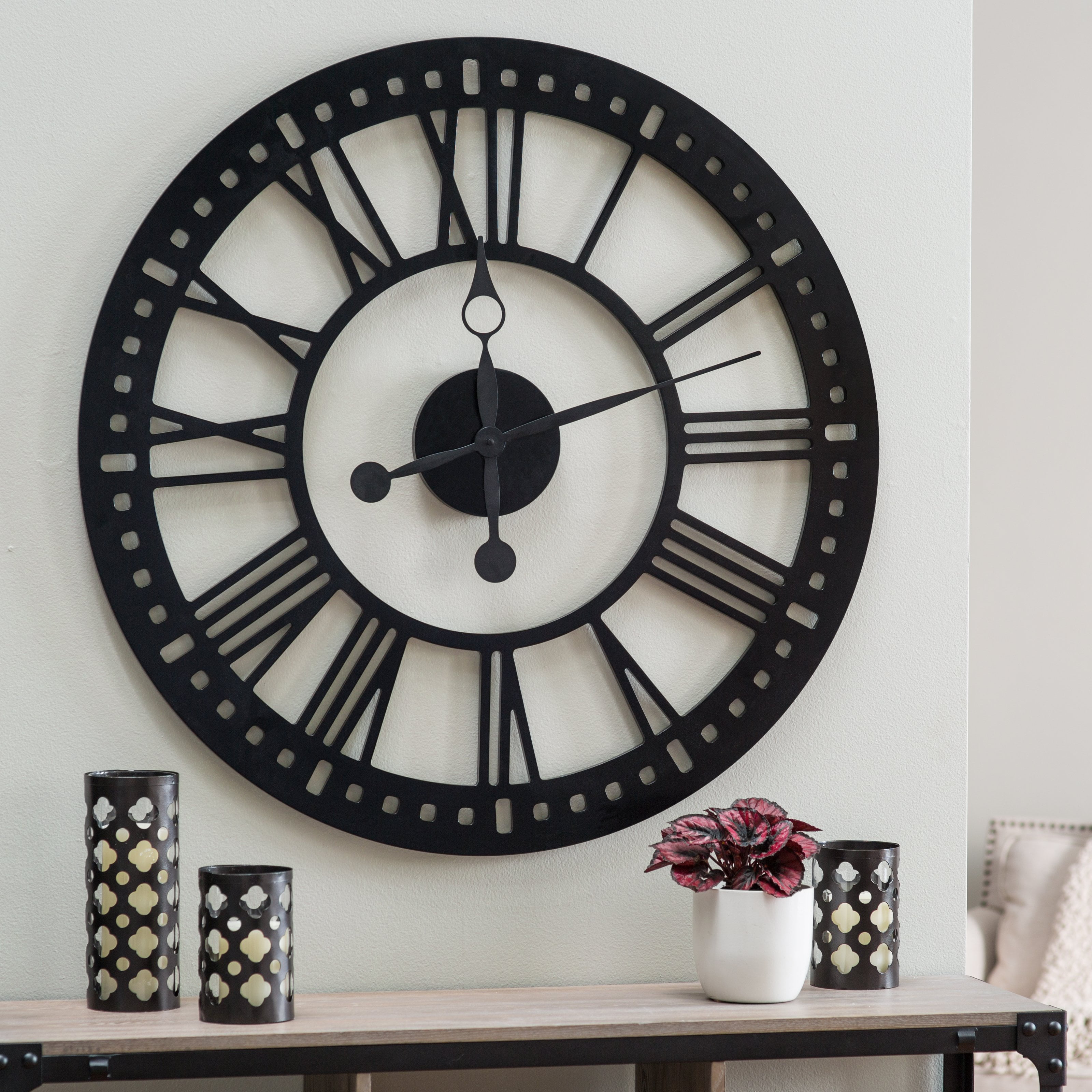Hawthorne Oversized Tower 38 Inch Wall Clock Walmart Com