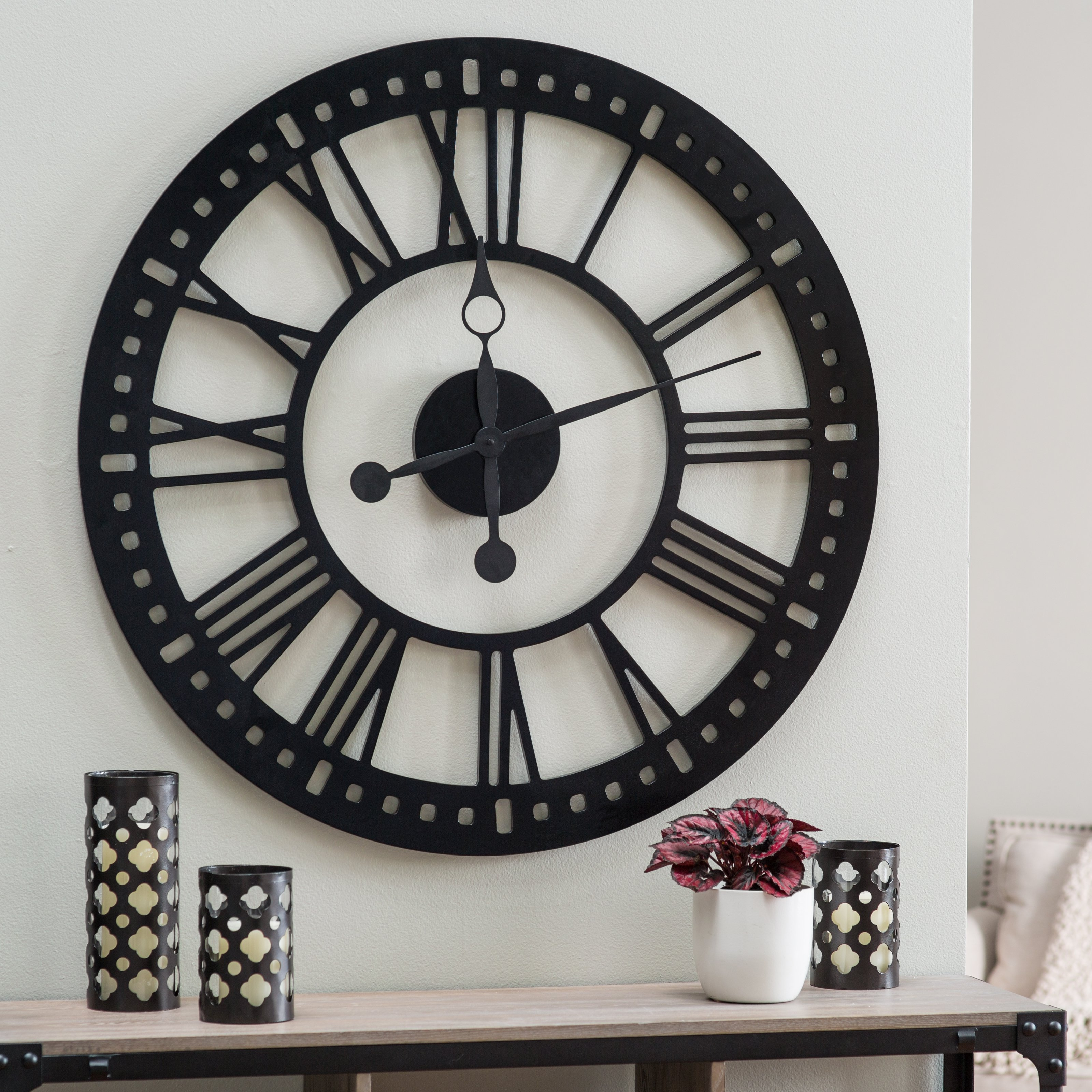 Hawthorne Oversized Tower 38 Inch Wall Clock