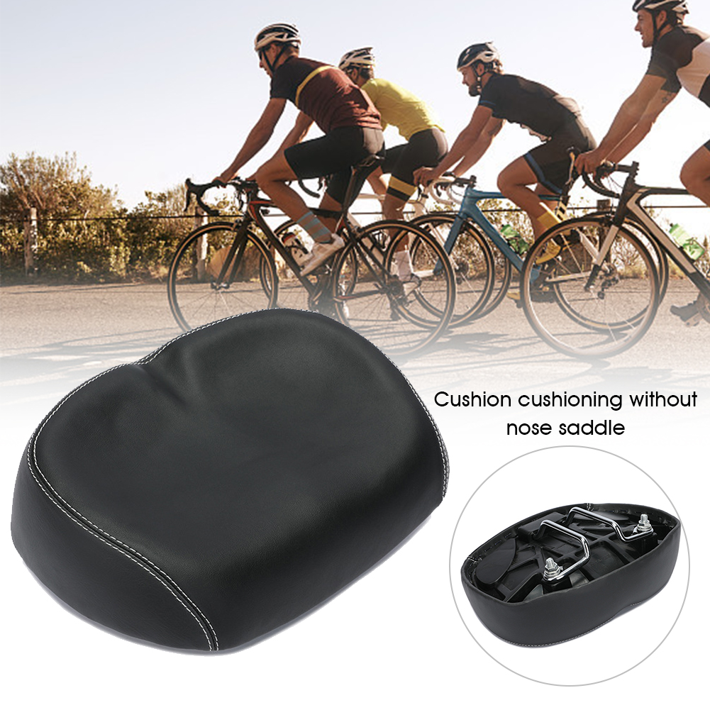 Big Bum Outdoor Cycling Bicycle Saddle Noseless Wide Bicycle Seat Soft Padded