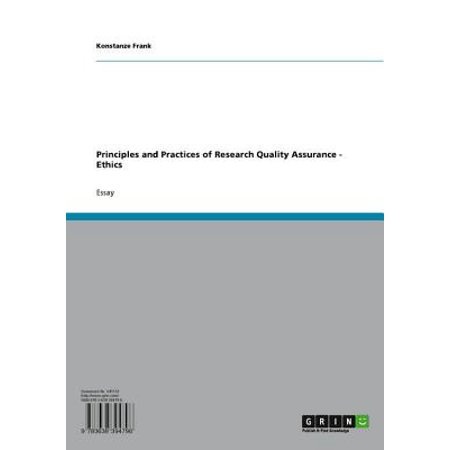 Principles and Practices of Research Quality Assurance - Ethics -