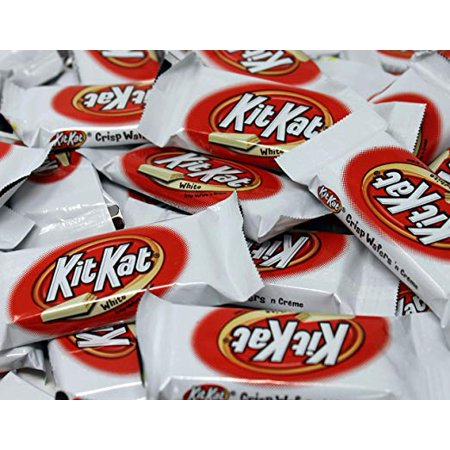 KitKat White, Crisp Wafers White Chocolate Candy Bar, Snack Size Bulk (Pack of 3lbs)