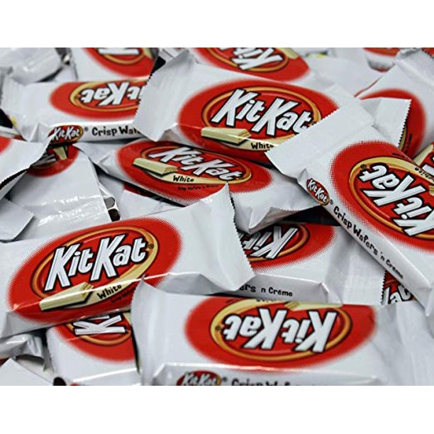 Kitkat White Crisp Wafers White Chocolate Candy Bar Snack Size Bulk Pack Of 3lbs Walmart Com Walmart Com