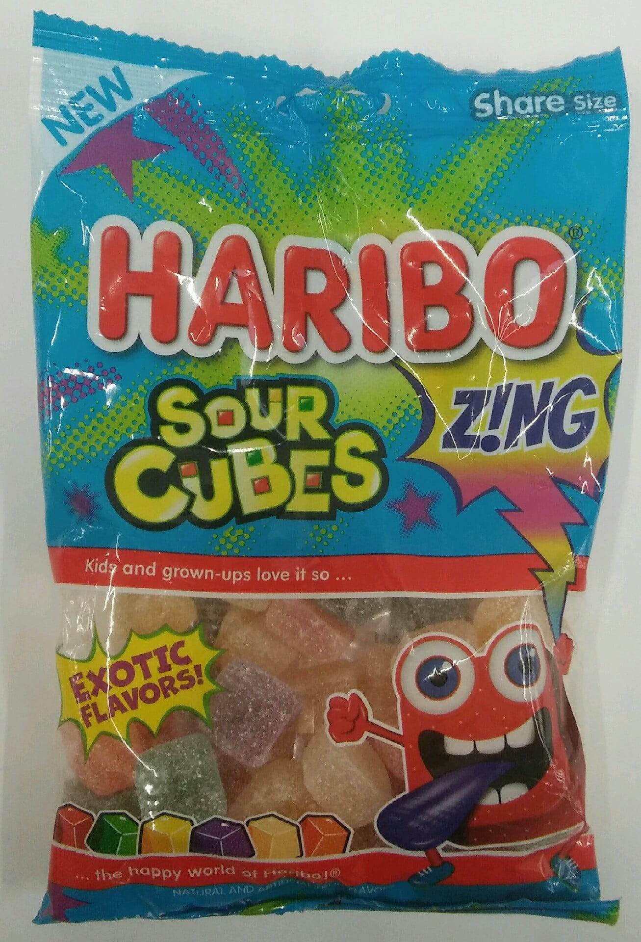 Haribo Sour Cubes, 7.2 Oz.
