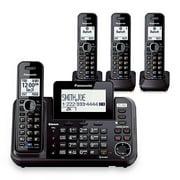 Panasonic KX-TG9542B + (2) KX-TGA950B DECT 6.0 Plus 2-Line Operation Bluetooth Enabled 4 Handset Cordless Phone