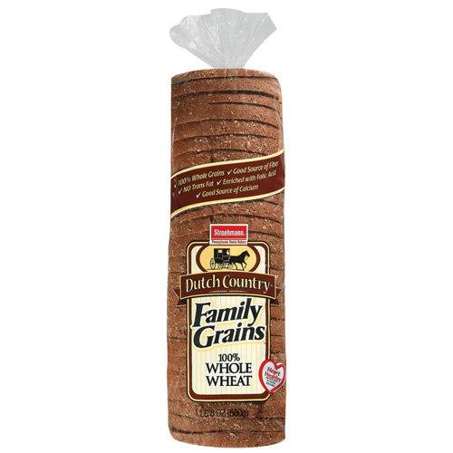Stroehmann: Dutch Country Family Grains 100% Whole Wheat Bread, 24 Oz