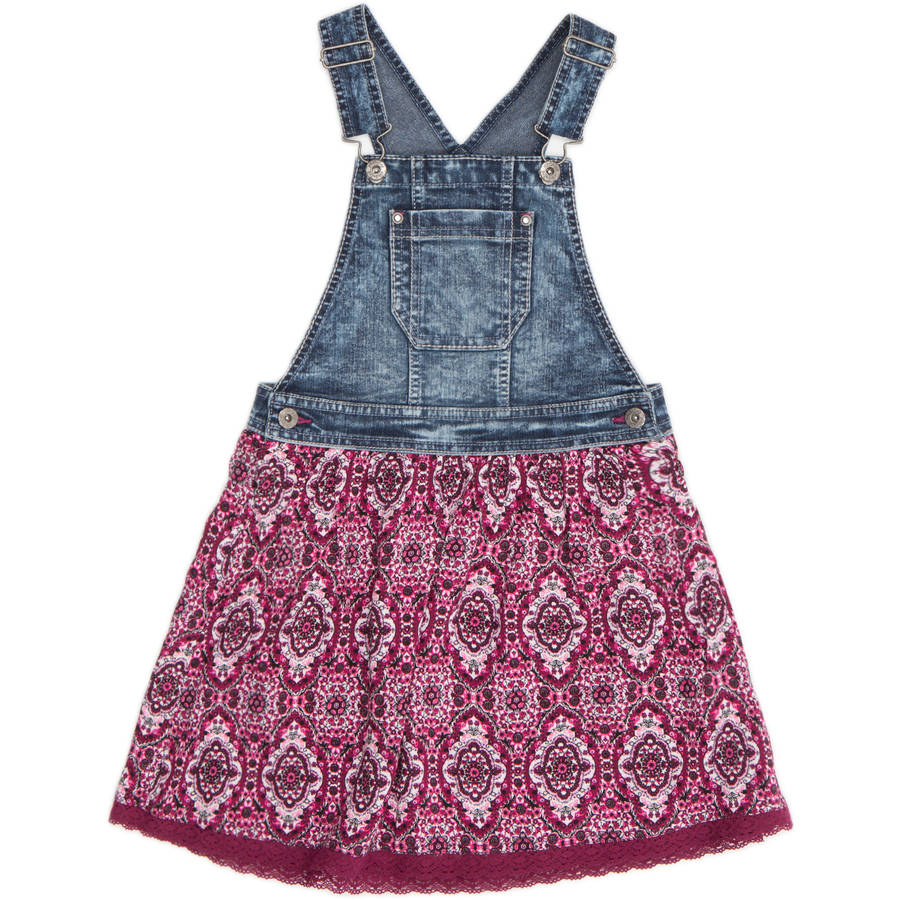 Jordache Girls' Mixed Media Denim Skirtall