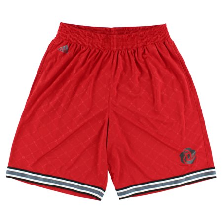 191b84160df4 Adidas Mens D Rose Logo Basketball Shorts Red - Walmart.com
