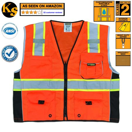 Kwiksafety Class 2 Safety Vest High Visibility Executive