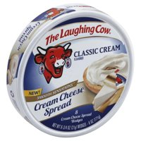 The Laughing Cow Classic Cream Flavored Cream Cheese Spread, 6 Oz.