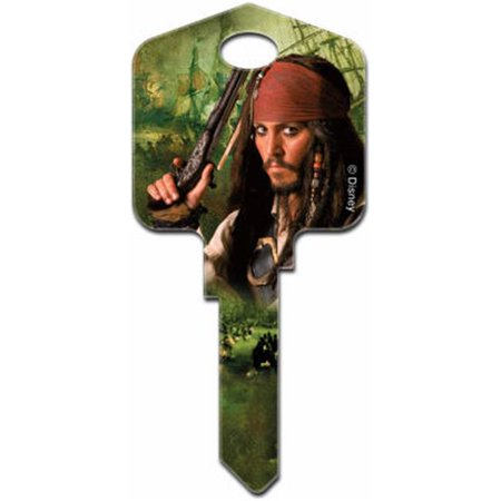 87662 SC1 Capt n Jack Sparrow Painted Key Blank - Capt Jack Sparrow