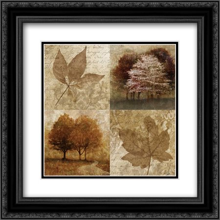 Arcadian Grove I 2x Matted 20x20 Black Ornate Framed Art Print by Mallett, Keith