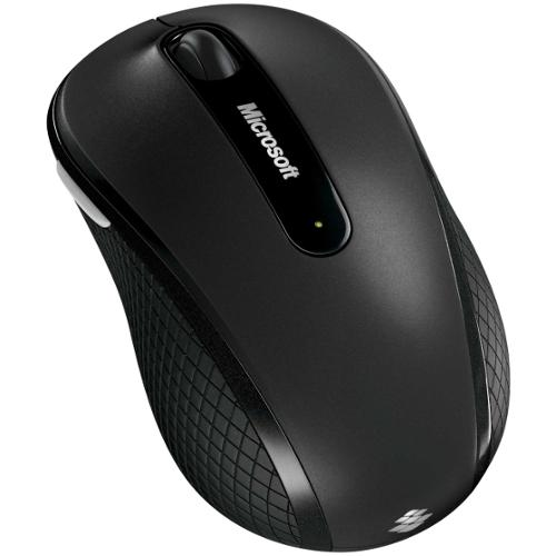Microsoft Wireless Mobile Mouse 4000 - USB - 4 x Button - Black