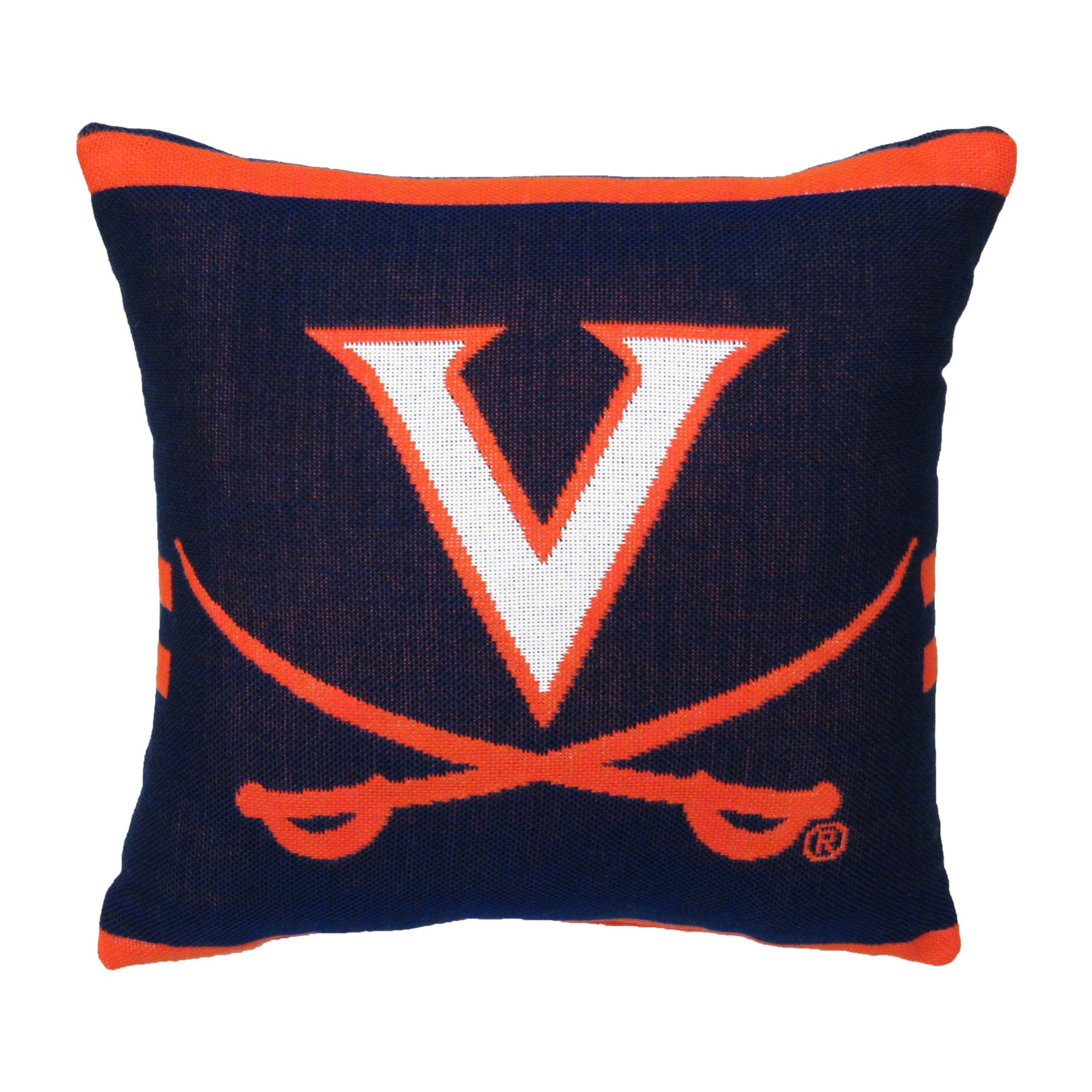 """NCAA University of Virginia 20"""" Square Decorative Woven Pillow by The Northwest Company"""