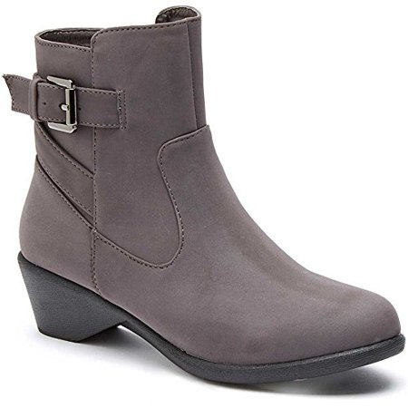 Serene Women's Cashew Boot, Grey Nubuck, 7.5 M US (Gay Boots)