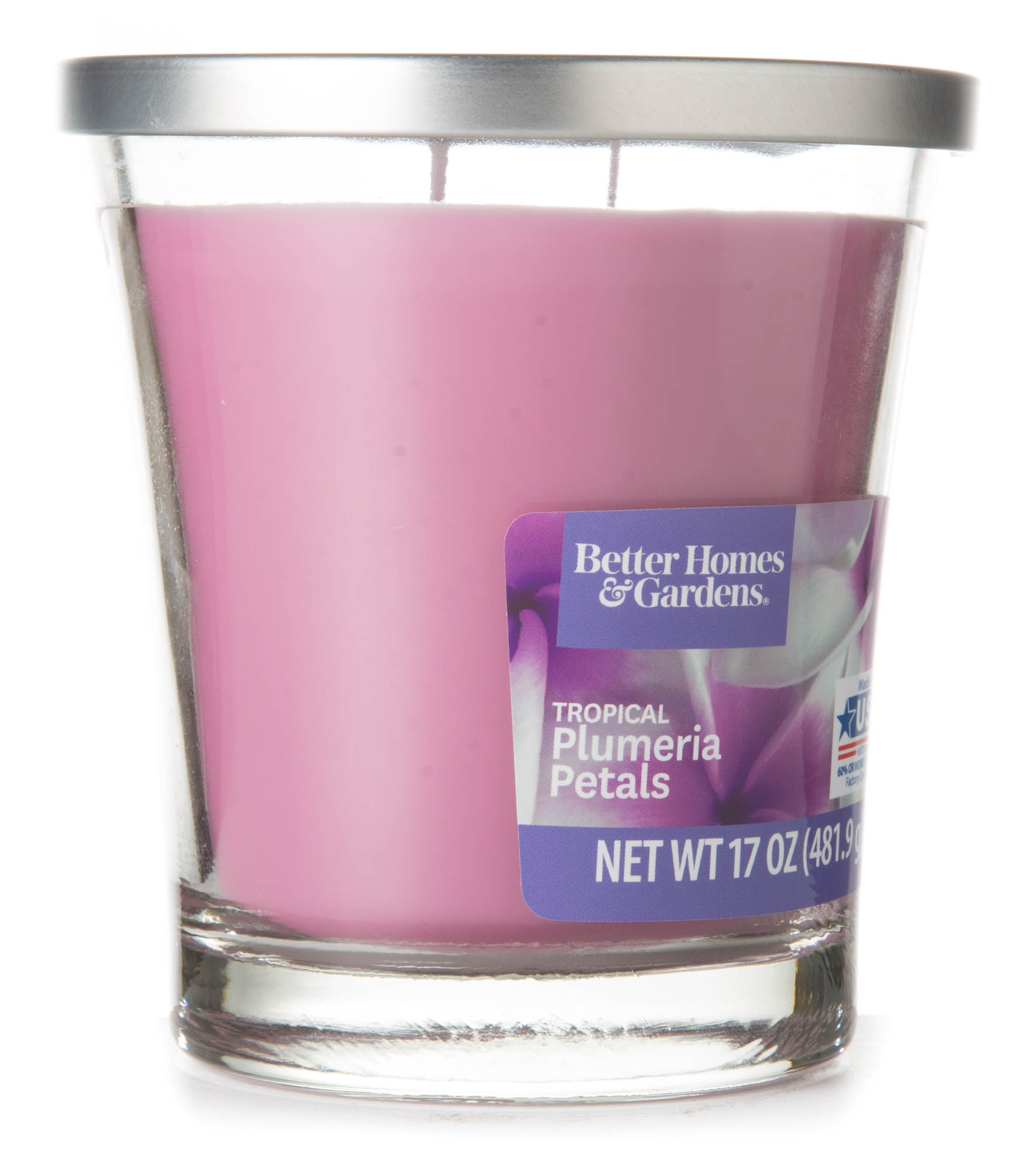 Better Homes and Gardens Tropical Plumeria Petals Candle, 17 oz ...