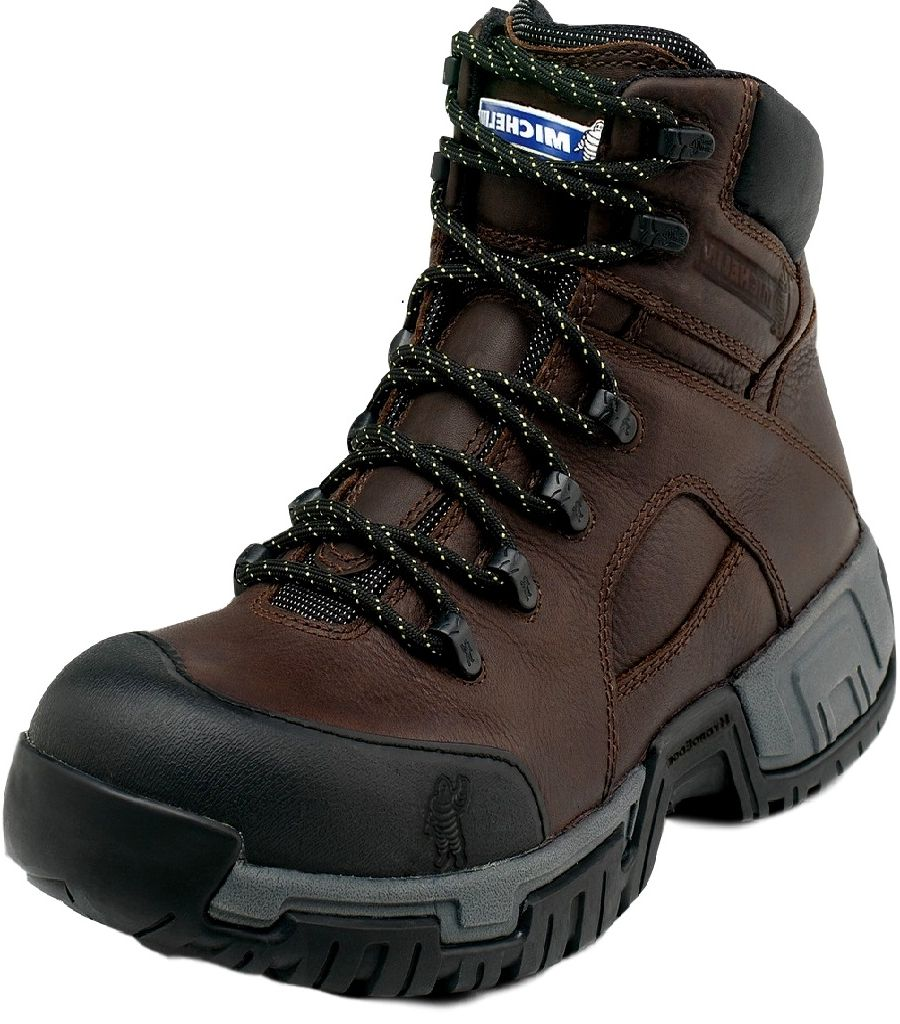 Michelin Work Boots Mens Steel Toe Waterproof Lace Up Brown XHY662 by Michelin