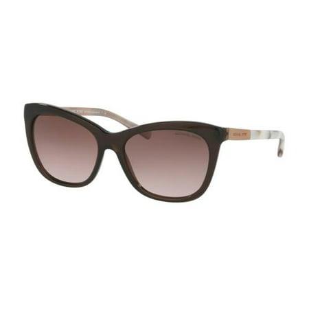 Mk 275 Marble (MICHAEL KORS Sunglasses MK 2020 311714 Dark Brown Pink Marble 56MM )